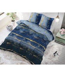 Sleeptime Elegance katoen dekbedovertrek ''cool blue''