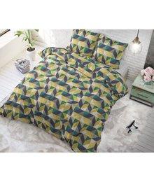 Sleeptime Elegance Dekbedovertrek ''Davis'' met geometrische patroon geel