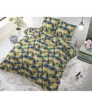 Sleeptime Elegance Dekbedovertrek '' Davis'' met geometrische patroon geel