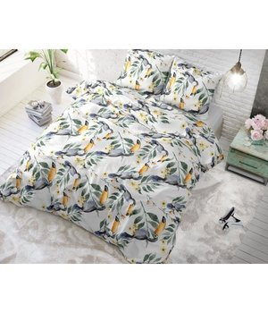 Sleeptime Elegance Katoen dekbedovertrek ''Toucan'' wit