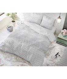 Sleeptime Elegance Katoen dekbedovertrek ''Matrix'' grijs