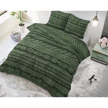 Sleeptime Elegance Dekbedovertrek gebreide trui groen