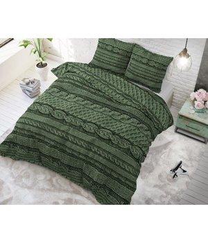 Sleeptime Elegance Dekbedovertrek gebreide groen