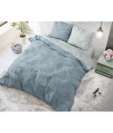 Sleeptime Elegance dekbedovertrek effen ''linnen'' blauw