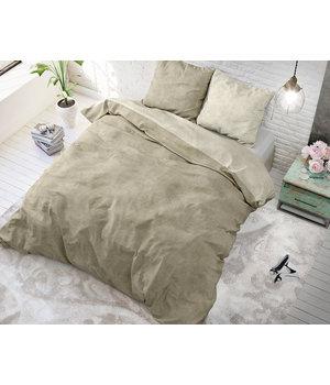 Sleeptime Elegance dekbedovertrek effen ''linnen'' beige