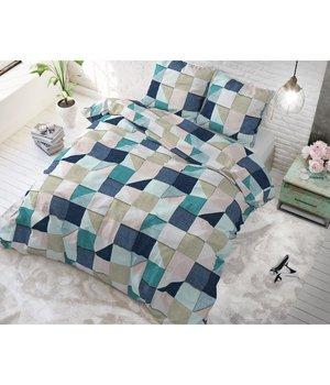 Sleeptime Elegance Dekbedovertrek met geometrische patroon blauw