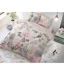 """Dreamhouse Bedding katoenen dekbedovertrek ''birds & blossom"""" pastel roze"""