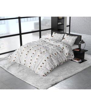 Sleeptime Elegance dekbedovertrek flanel ''gebreide look'' wit
