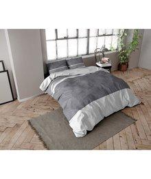 Dreamhouse Bedding dekbedovertrek flanel ''linnen look''antraciet
