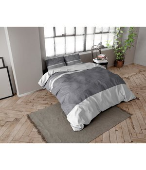 Dreamhouse Bedding dekbedovertrek flanel ''Linnenlook'' antraciet