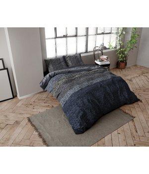 Dreamhouse Bedding dekbedovertrek flanel ''gebreide look'' blue
