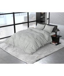 Sleeptime Elegance dekbedovertrek flanellen ''Stone'' licht grijs