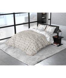 Sleeptime Elegance dekbedovertrek flanellen ''geometric'' beige