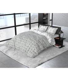 Sleeptime Elegance dekbedovertrek flanellen ''geometric'' grijs