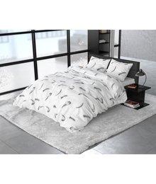 Sleeptime Elegance dekbedovertrek flanellen ''vintage feathers'' wit