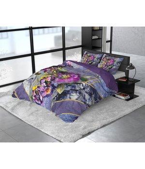 Dreamhouse Bedding Katoen satijn dekbedovertrek ''Kannieta'' paars
