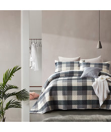 Dreamhouse Bedding Luxe bedsprei ''Check grey''