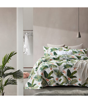 Dreamhouse Bedding Luxe bedsprei ''Botanical Garden'' wit