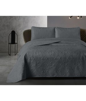 Dreamhouse Bedding Luxe bedsprei ''Clara'' antraciet