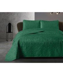Dreamhouse Bedding Luxe bedsprei '' Clara'' bottle green