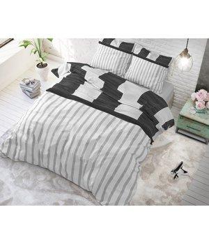 Sleeptime Elegance luxe dekbedovertrek zwart strepen