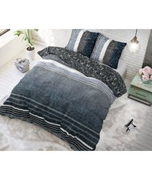 Dreamhouse Bedding dekbedovertrek  ''linnenlook'' navy blauw