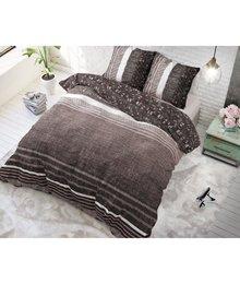 Dreamhouse Bedding dekbedovertrek  ''linnenlook'' taupe/bruin