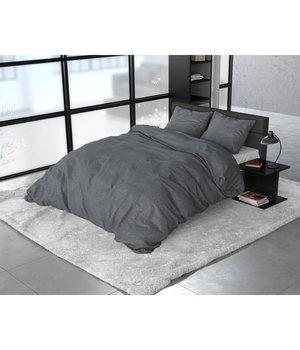 Sleeptime Elegance dekbedovertrek flanellen ''Stone'' antraciet