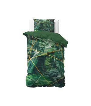 Dreamhouse Bedding Katoen satijn dekbedovertrek ''Nature vibes'' groen