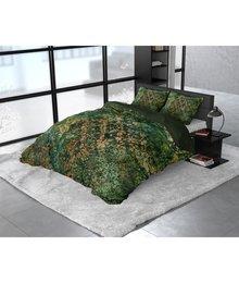 Dreamhouse Bedding Katoen satijn dekbedovertrek ''Venni'' groen met barok dessin