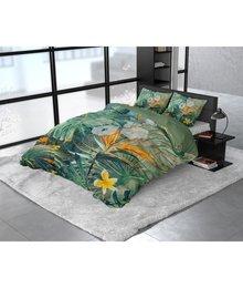 Dreamhouse Bedding Katoen satijn dekbedovertrek ''Nature fusion'' groen