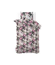 Dreamhouse Bedding Katoen satijn dekbedovertrek ''Vanessa'' floral black