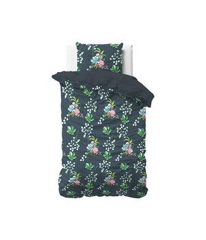 Dreamhouse Bedding Katoen satijn dekbedovertrek ''Nature leaves'' groen