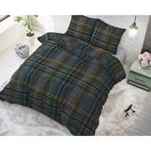 Sleeptime Elegance Katoen dekbedovertrek groen met strepen