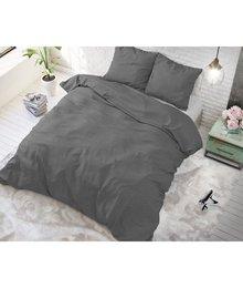 Sleeptime Elegance dekbedovertrek effen ''linnen''antraciet