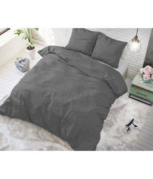 Sleeptime Elegance dekbedovertrek effen ''linnen'' antraciet