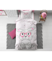 Dreamhouse Bedding Kids dekbedovertrek konijn ''Wise Bunny''
