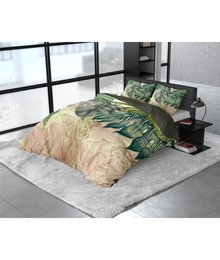 Dreamhouse Bedding Katoen satijn dekbedovertrek ''Malva'' groen