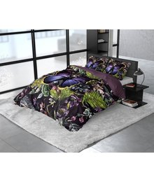 Dreamhouse Bedding Katoen satijn dekbedovertrek ''Mosani'' antraciet met vlinder