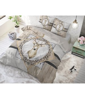 Dreamhouse Bedding Dekbedovertrek ''Winter Hert'' taupe