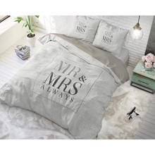 Dreamhouse Bedding dekbedovertrek '' mr en mrs'' wit