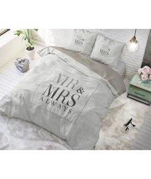 Dreamhouse Bedding dekbedovertrek '' mr en mrs'' wit