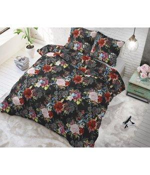 Sleeptime Elegance Katoen Dekbedovertrek ''Flower bomb'' antraciet