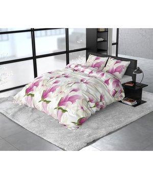 Sleeptime Elegance dekbedovertrek flanellen ''Olivia'' wit