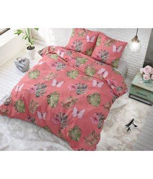 Sleeptime Elegance dekbedovertrek ''Botanic Blush'' roze  lits jumeaux