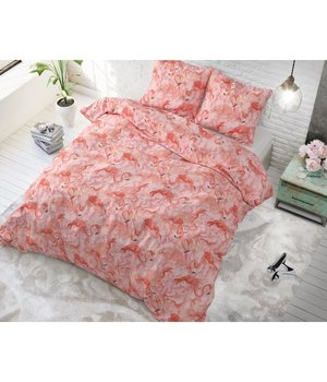 Sleeptime Elegance Katoen dekbedovertrek ''Flamingo Fever'' pink