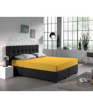 HomeCare Dubbel Jersey hoeslaken geel goedkope Dubbel Jersey water-bed XL 190/200 x 200/230 + 40 cm hoek/hoog