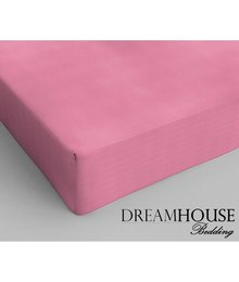Dreamhouse Bedding Katoen Hoeslaken Roze