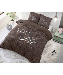 Dreamhouse Bedding dekbedovertrek liefde ''forever together'' taupe