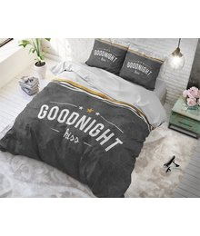 Dreamhouse Bedding vintage dekbedovertrek ''Goodnight'' antraciet